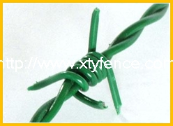 PVC coated barbed wire rope