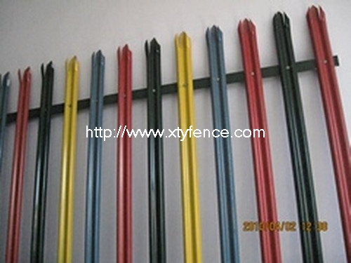 PVC coated steel palisade